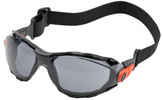 Elvex Go-Specs Safety Goggles with Black Frame, Foam Seal and Gray Anti-Fog Lens