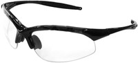 Radians Rad-Infinity Safety Glasses with Black Frame and Clear Lens