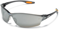 Crews Law 2 Safety Glasses with Silver Mirror Lens