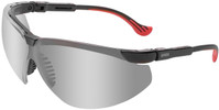 Uvex Genesis XC Safety Glasses with Black Frame and Mirror Lens