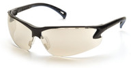 Pyramex Venture 3 Safety Glasses with Black Frame and Indoor/Outdoor Lens