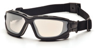 Pyramex I-Force Safety Goggle/Glasses with Black Frame and Indoor/Outdoor Anti-Fog Lenses