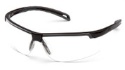Pyramex Ever-Lite Safety Glasses with Black Frame and Clear Anti-Fog Lenses