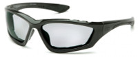 Pyramex Accurist Safety Glasses with Black Frame and Light Gray Anti-Fog Lens