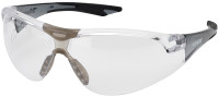 Elvex Avion SlimFit Safety Glasses with Black Temples and Clear Lens
