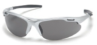 Pyramex Avante Safety Glasses with Silver Frame and Gray Lens