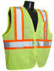 Radians SV225-2 Class 2 Two Tone Fire Retardant Hi-Viz Green Mesh Safety Vest