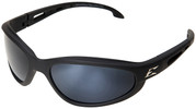 Edge Dakura Polarized Safety Glasses with Black Frame and G15 Silver Mirror Lens