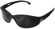 Edge Dakura Polarized Safety Glasses with Black Frame and Smoke Lens