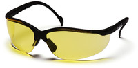 Pyramex Venture 2 Safety Glasses with Black Frame and Amber Lens