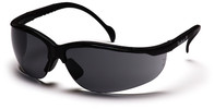 Pyramex Venture 2 Safety Glasses with Black Frame and Gray Lens