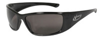 Radians Vengeance Safety Glasses with Black Frame and Smoke Polarized Lens