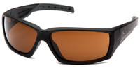 Venture Gear Overwatch Tactical Safety Sunglasses with Black Frame and Bronze Anti-Fog Lens