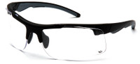 Venture Gear Drone Tactical Safety Glasses with Black Frame and Clear Anti-Fog Lens
