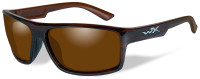 Wiley X Peak Safety Sunglasses with Gloss Layered Tortoise Frame and Amber Polarized Lens