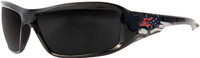 Edge Brazeau Designer Series with Black Patriot1 Frame and Smoke Lens
