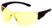 Pyramex Trulock Dielectric Safety Glasses with Black Temples and Amber Lens