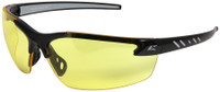 Edge Zorge G2 Safety Glasses with Black Frame and Yellow Vapor Shield Lens