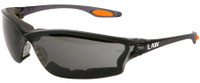 Crews Law 3 Safety Glasses with Gray Anti-Fog Lens and Foam Seal