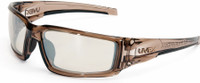 Uvex Hypershock Safety Glasses with Smoke Brown Frame and SCT Reflect-50 Lens