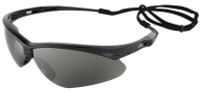 Jackson Nemesis Safety Glasses with Black Frame and Smoke Mirror Lens