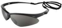 Jackson Nemesis Safety Glasses with Black Frame and Smoke Mirror Lens