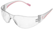 Bouton/PIP Eva Petite Women's Safety Glasses with Pink Temple Trim and Clear Hard Coat Lens