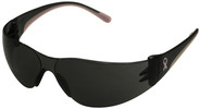 Bouton/PIP Eva Petite Women's Safety Glasses with Pink Temple Trim and Gray Lens