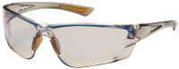 Bouton Recon Safety Glasses with Brown Temple and Indoor/Outdoor Blue Anti-Fog Lens