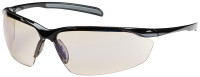 Bouton Commander Safety Glasses with Black Frame and Indoor/Outdoor Blue Anti-Fog Lens