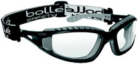 Bolle Tracker Safety Glasses with Black Frame and Clear Anti-Scratch and Anti-Fog Lenses