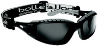 Bolle Tracker Safety Glasses with Black Frame and Smoke Anti-Scratch and Anti-Fog Lenses