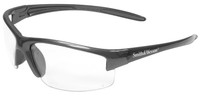 Smith & Wesson Equalizer Safety Glasses with Gun Metal Frame and Clear Anti-Fog Lens