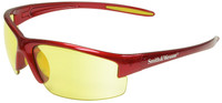 Smith & Wesson Equalizer Safety Glasses with Red Frame and Amber Lens