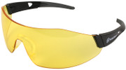 Smith & Wesson 44-Magnum Safety Glasses with Black Temples and Amber Anti-Fog Lens