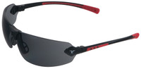 Encon Veratti 429 Safety Glasses with Red Temple Accent and Gray Lens