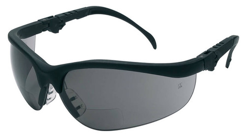 Crews Klondike Magnifiers Bifocal Safety Glasses With Gray Lens