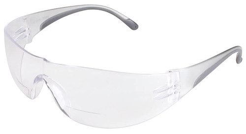 Bouton/PIP Zenon Z12R Bifocal Safety Glasses with Black Temple Trim and Clear Lens