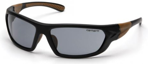 Carhartt Carbondale Safety Glasses with Black Frame and Gray Lens