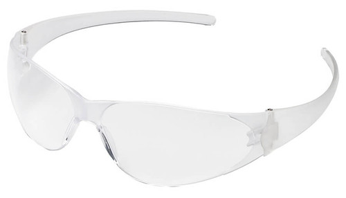 Crews Checkmate Safety Glasses with Clear Anti-Fog Lens