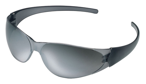 Crews Checkmate Safety Glasses with Silver Mirror Lens