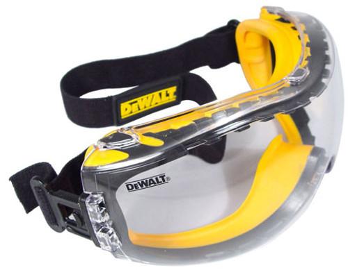 DeWalt Concealer Safety Goggles with Clear Anti-Fog Lens (DPG82-11)