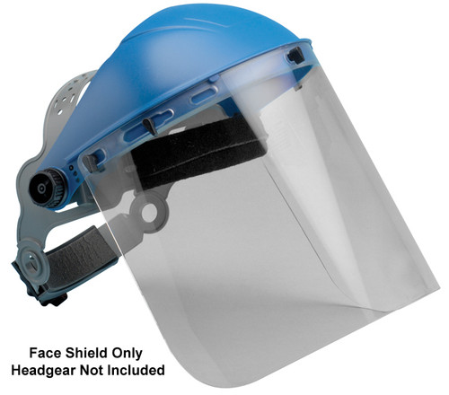 "Elvex Clear Polycarbonate Face Shield 8"" x 15.5"" x 2mm"