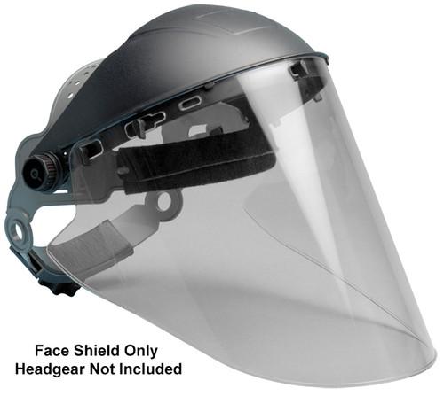 "Elvex Clear Hardcoated Lexan Face Shield 10"" x 18.5"" x 2mm"