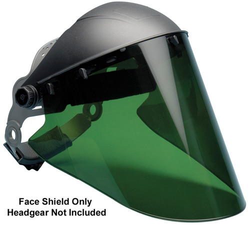 "Elvex Green Lexan Face Shield 10"" x 18.5"" x 2mm"