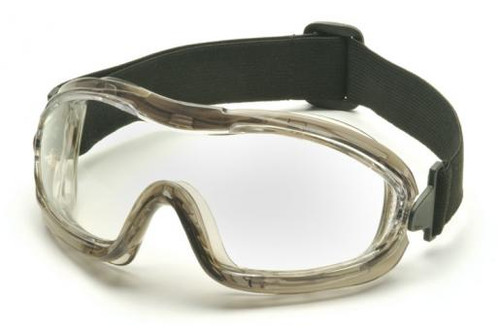 Pyramex Low Profile Splash Goggles with Translucent Frame and Clear AF Lens