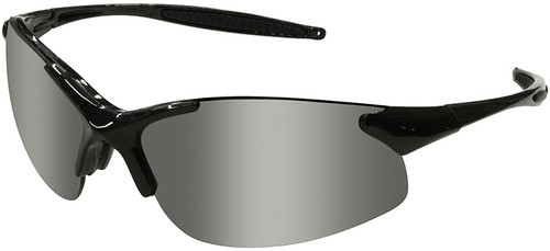 Radians Rad-Infinity Safety Glasses with Black Frame and Silver Mirror Lens