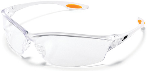 Crews Law 2 Safety Glasses with Clear Lens