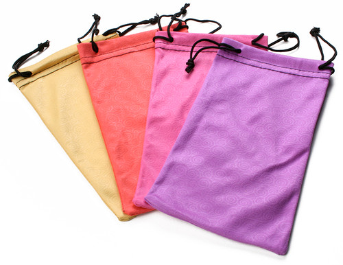 Microfiber Sunglasses Pouch with Swirl Pattern