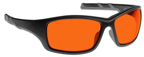 NoIR BluGard Deluxe Nighttime Eyewear with Black Frame and Orange Lens